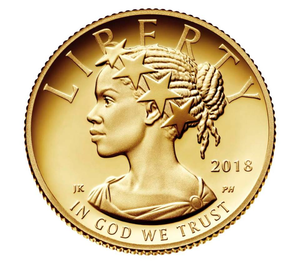 2018 American Liberty One–Tenth Ounce Gold Proof Coin Obverse