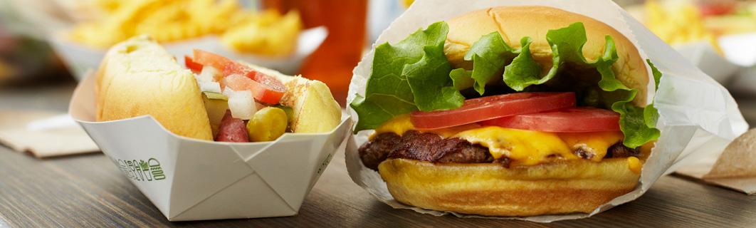 Shake Shack Burger and Hotdog