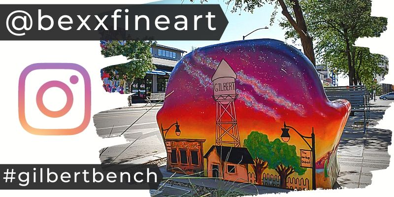 Bexx Fine Art | Gilbert, AZ Public Art Bench