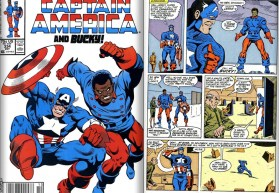 Lamar Hoskins first appearance as Bucky from Captain America #334