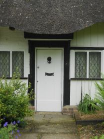 The front door around the back.