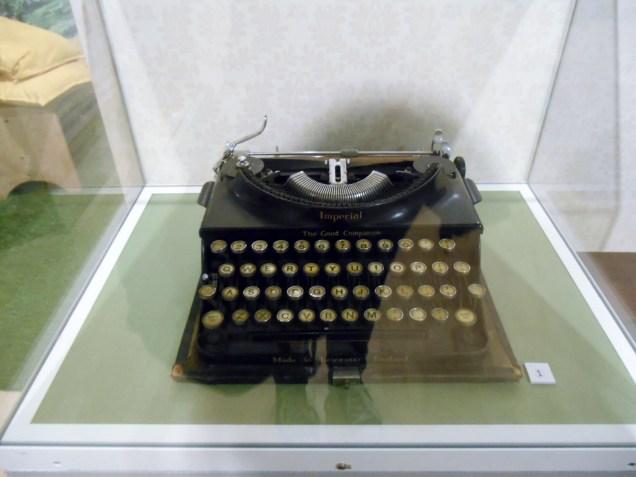Blyton's typwriter