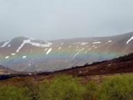 Rainbow in a valley, Creag Meagaidh