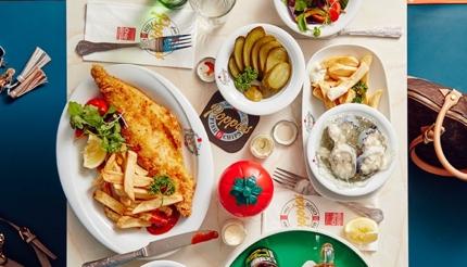الأسماك والبطاطا المقلية، أحد أشهر الأكلات في لندن، بريطانيا