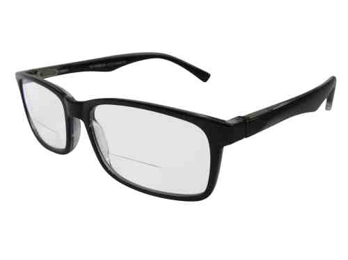 Oslo Wayfarer Bifocal Reading Glasses in Black
