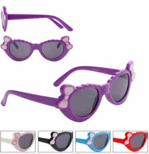Girls Fashion Dots and Bows Sunglasses