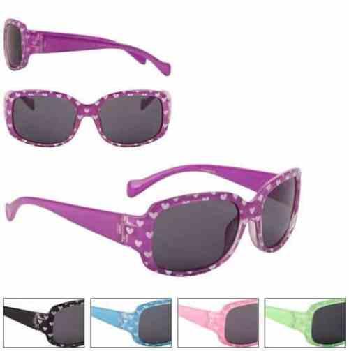 Girls Fashion Heart Sunglasses