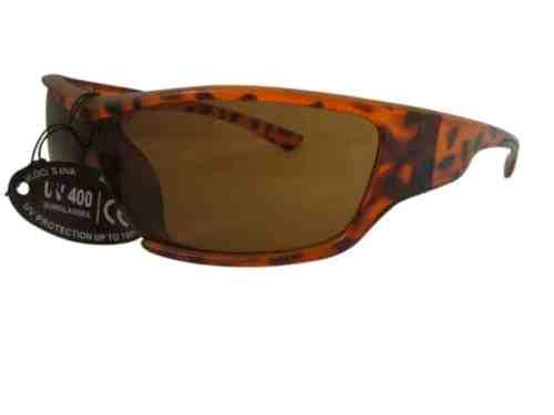 Belair Wrap Around Sports Sunglasses in Tortoiseshell