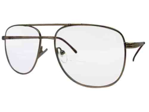 Texas Square Aviator Bifocal Reading Glasses in Gold