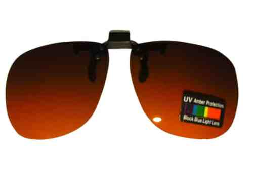 Clip on Flip up Sunglasses Blue Blocker Lens