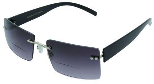 Baltimore Rimless Bifocal Sunglasses in Smoke