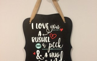Chalk Couture – I Love You A Bushel