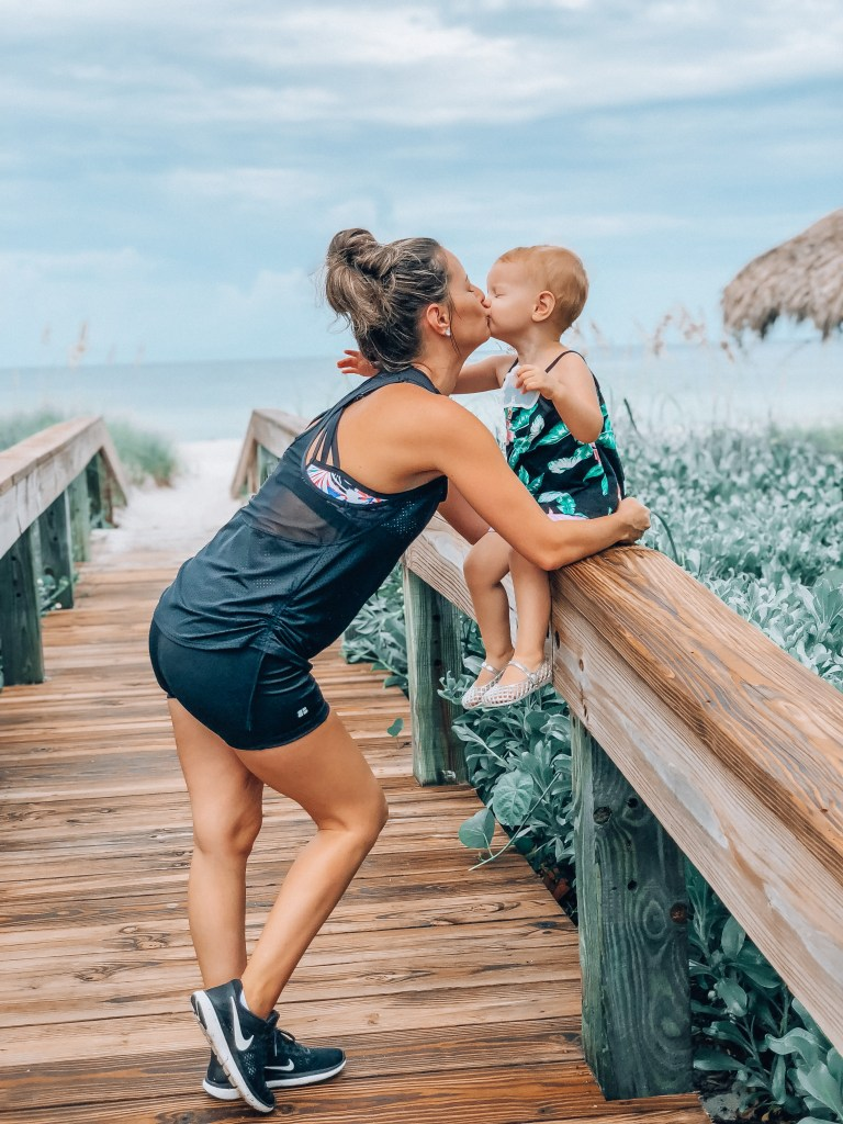 As moms we are always on the go and a swimsuit that can be worn to the beach and run errands with out a cover up is a bonus!