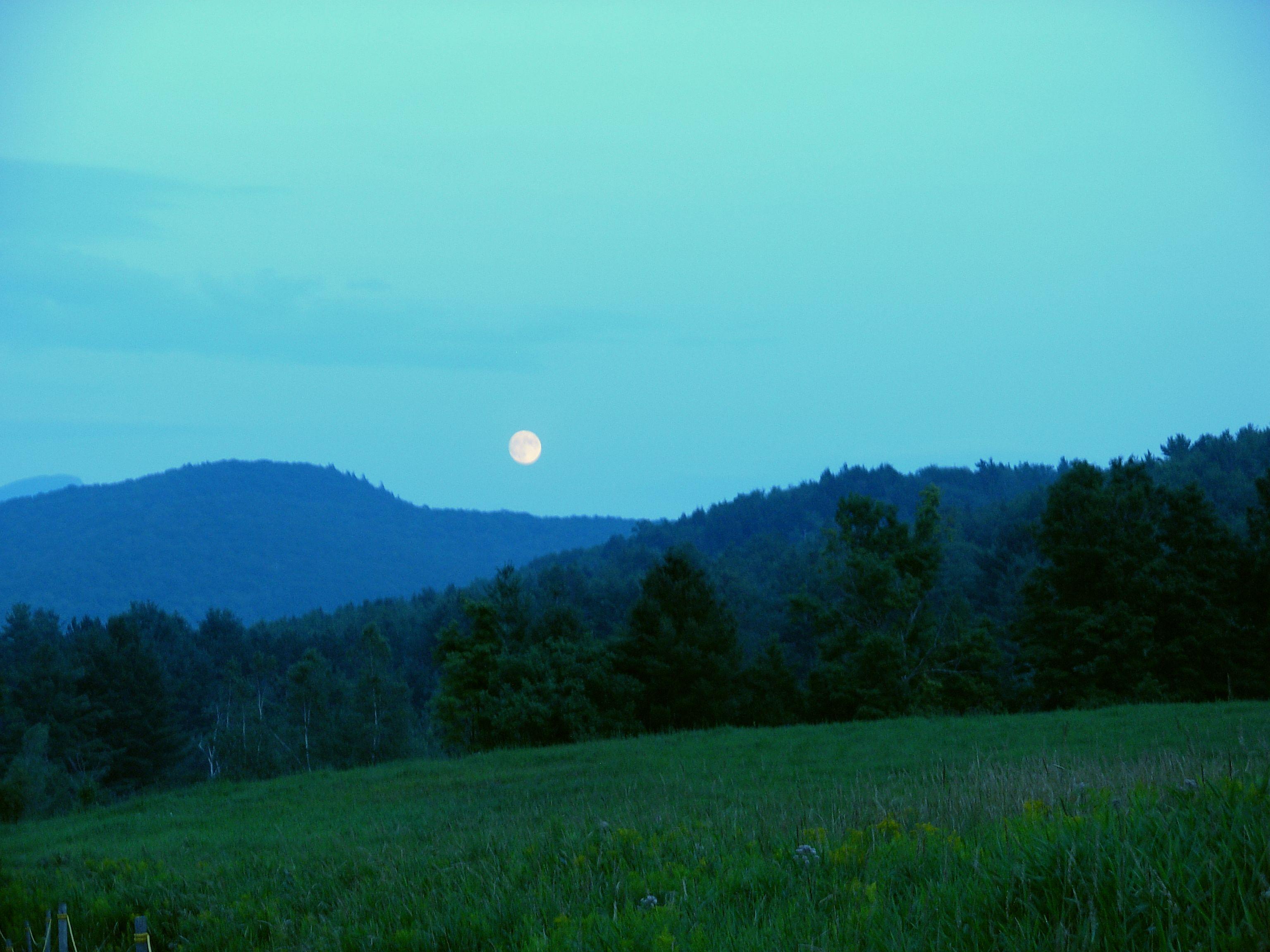8/4/09 - Moon over Owl's Head