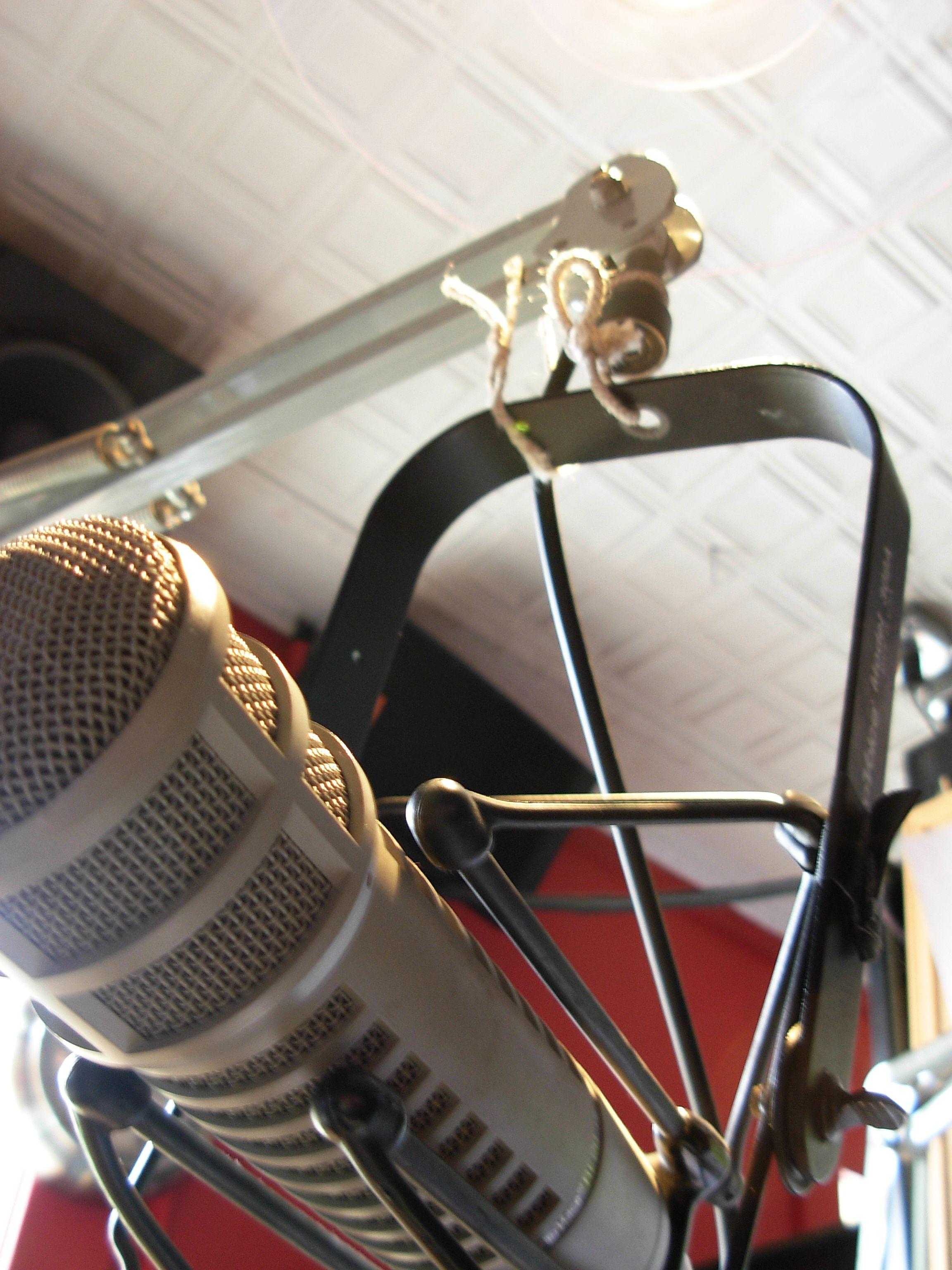 @ the Radiator: impromptu mic repair
