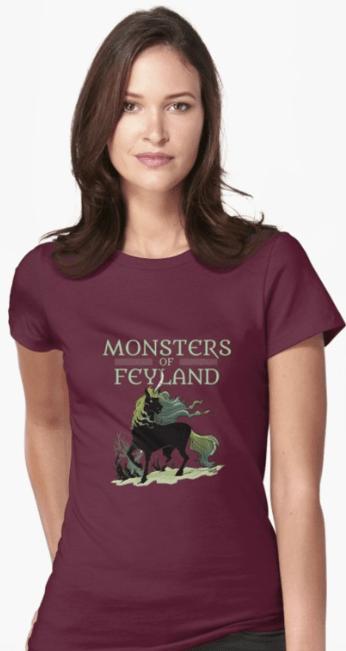 Screenshot_2019-05-21 'Black Unicorn from Monsters of Feyland' T-Shirt by cawoodpublish(1)