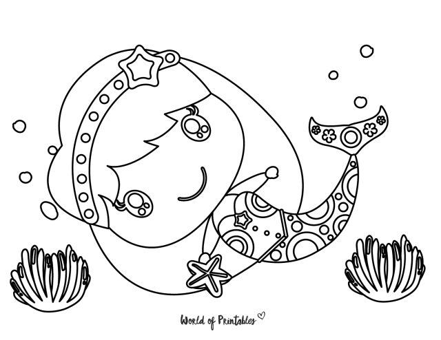 28 Best Mermaid Coloring Pages For Kids & Adults - World of Printables