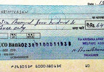 Writing bank cheque correctly