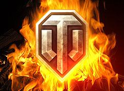 El logo de World of Tanks imita un escudo de acero, en el que destaca un resalte en acero con forma de T en el centro.