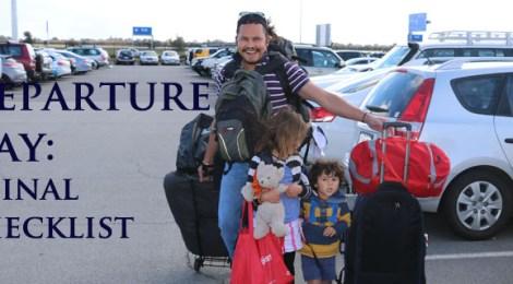 Departure Day Travel Checklist