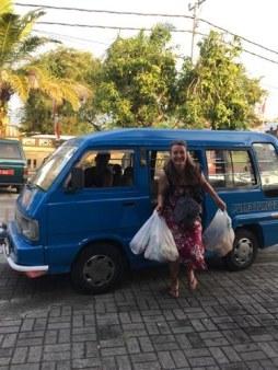 Taking a Bemo in Bali