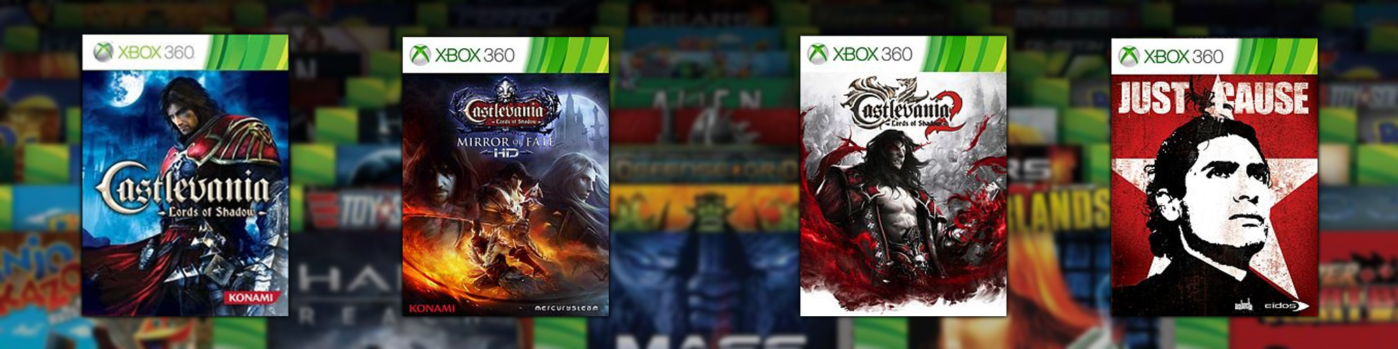 Just Cause, Castlevania: Lords of Shadow, Castlevania: Lords of Shadow – Mirror of Fate HD, Castlevania: Lords of Shadow 2