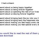 I had a dream_new