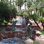 Waterfall with dolphin sculptures12