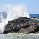 Wave smashes on the rocks12
