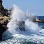 Massive wave hits the cliff12