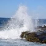 Wave splash at a cliff12