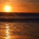 Orange sky with waves12