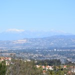 Valley view with snowy mountains12