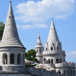 Towers of Fisherman`s Castle in Budapest12