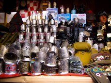 Silver trinkets at Izmailovsky Market, Moscow, Russia