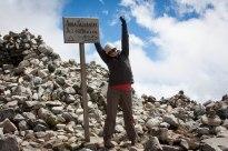 At the summit of Salcantay (4600 M / 15,180 feet)