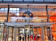 Front entrance to The New York Times in Manhattan | @NYTimes