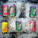 Squirt, Crush, colorful sodas [open-sip-ah]