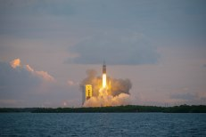 The Orion spacecraft launches at dawn on December 5 from Cape Canaveral in Florida
