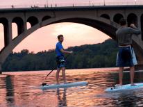Locals enjoy a sunset paddle at Key Bridge Boathouse in Georgetown (Credit: Key Bridge Boathouse)