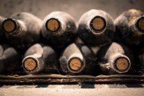 There is something so beautiful about bottles of wine collecting dust in a basement cellar...