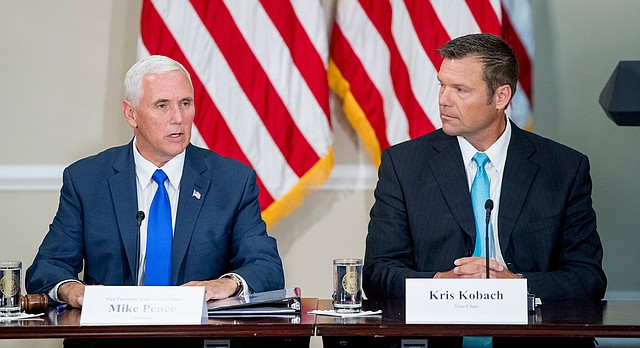 Hasil gambar untuk Vice President Pence Leads First Meeting of the Presidential Advisory Commission on Election Integrity