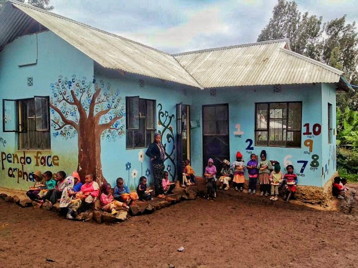 Children of Upendo Face Orphanage