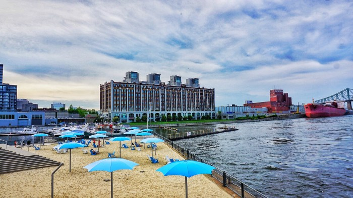 Things I love to hate about Montreal: our swimless beach