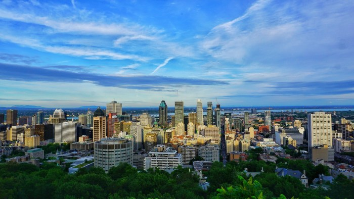 The Montreal skyline, one of my favorite things about Montreal