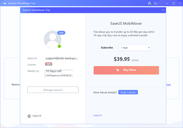 EaseUS MobiMover 5.2.4 Crack With License Key Free Download