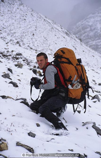 met Andrew on the trek