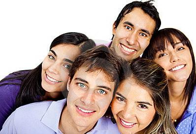 Polyamory Group Five Closeup Faces - World Polyamory Association