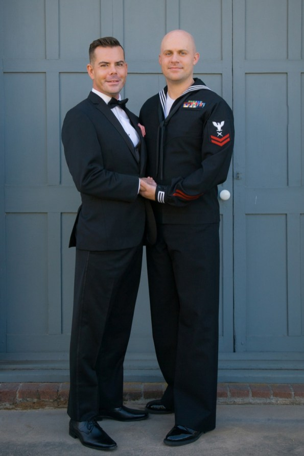 Gay Military Couple in Black image