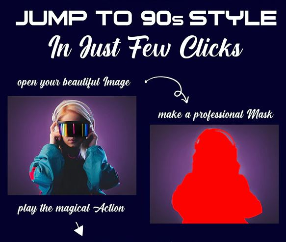 GraphicRiver – 90s Style Photoshop Action 26730215